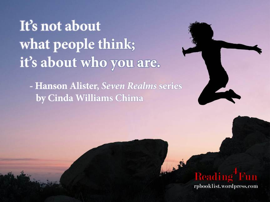 It's not about what people think; it's about who you are.